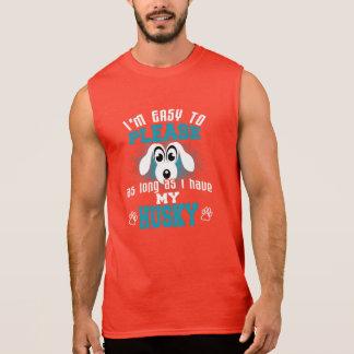 Funny Husky Dog Owners Sleeveless Shirt