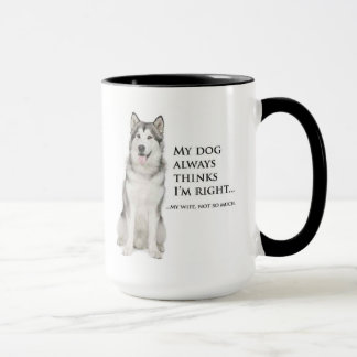 Funny Husky vs. Wife Mug