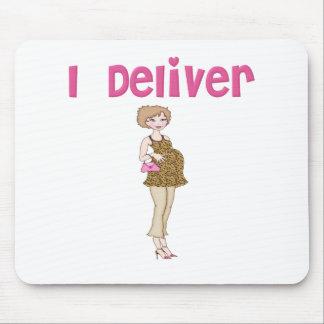 Funny I Deliver Pregnancy Mouse Pad