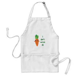 Funny I don't Carrot All Food Pun Humor Cartoon Standard Apron