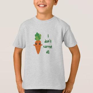 Funny I don't Carrot All Food Pun Humor Cartoon T-Shirt