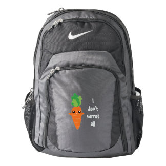 Funny I don't Carrot All Punny Cute Food Pun Humor Backpack