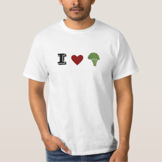 Funny I heart broccoli tshirt