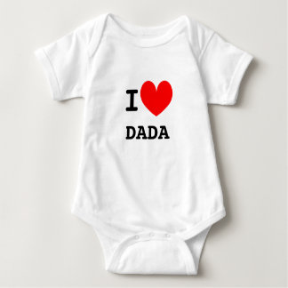 Funny I heart dada infant bodysuit | Kids humor