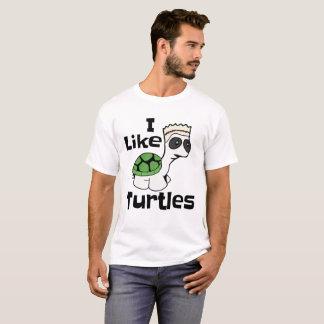 Funny I Like Turtles meme t-shirt