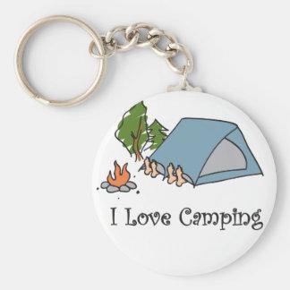Funny I Love Camping Keychain