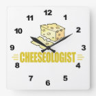 Funny I Love Cheese Square Wall Clock