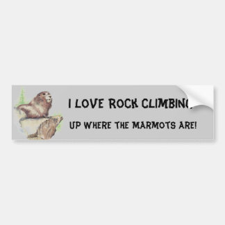 Funny I love Rock Climbing, Sport, Marmot, Nature Bumper Sticker