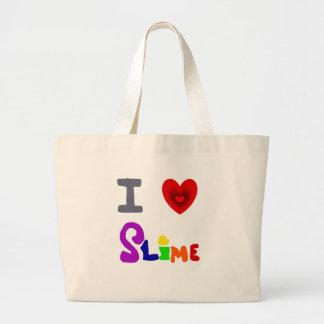 Funny I Love Slime Art Large Tote Bag