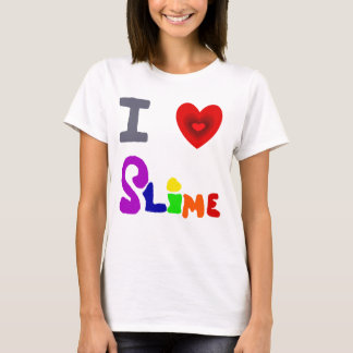 Funny I Love Slime Art T-Shirt