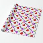 Funny I Love Slime Art Wrapping Paper