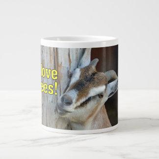 Funny I Love Trees Goat Leaning Against Tree Large Coffee Mug