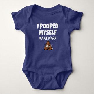 Funny I pooped myself #awkward funny baby boy shir Baby Bodysuit