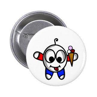 funny ice cream dude 2 inch round button