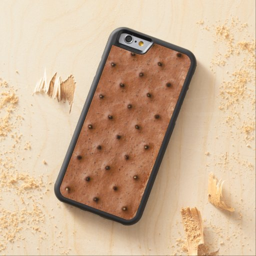 Funny Ice Cream Sandwich Carved® Maple iPhone 6 Bumper