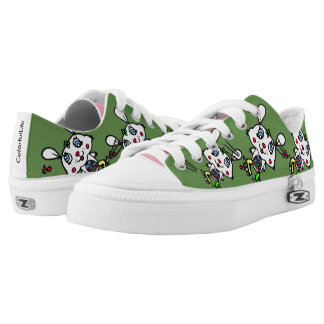 Funny Ice Skating Rabbit Low-Top Sneakers