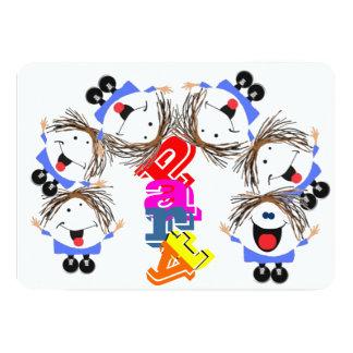 "Funny icon party 5"" x 7"" invitation card"