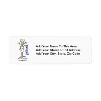 Funny ICU Nurse T-shirts and Gifts Return Address Label