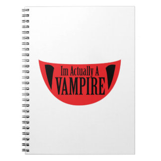 Funny Im Actually A Vampire Halloween Meme Funny Notebooks
