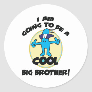 Funny I'm Going To Be A Big Brother Round Sticker