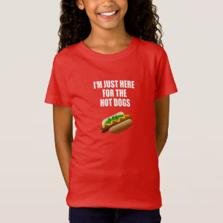 """Funny: """"I'm just here for the Hot Dogs"""" BBQ, party T-Shirt"""