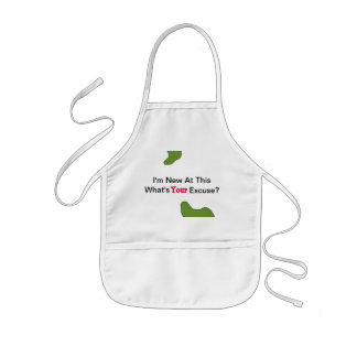 Funny I'm New At This Baby Bib Kids Apron
