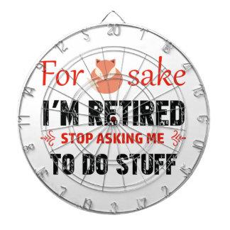 Funny I'm retired designs Dartboard