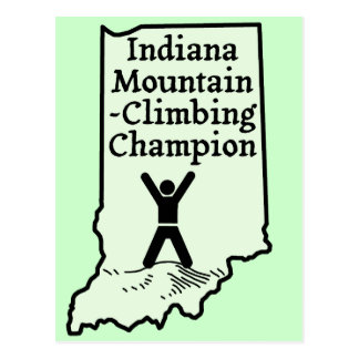 Funny Indiana Mountain Climbing Champion Postcard