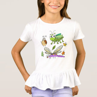 funny insects children animals cartoon T-Shirt