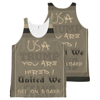 Funny inspired USA you are hired United We Trump All-Over-Print Tank Top