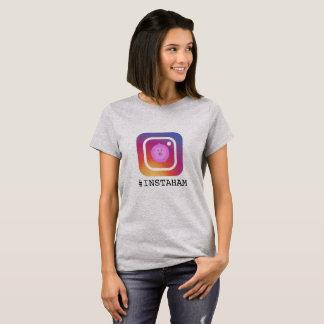 Funny Instagram Pig pun 'instaham' T-Shirt