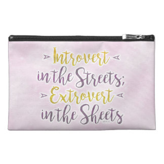Funny Introvert Streets Extrovert Sheets Rhyme Travel Accessories Bags
