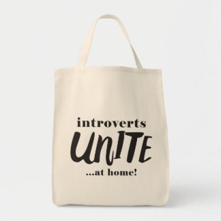 Funny Introverts Tote Bag