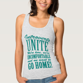 Funny Introverts Typography Tank Top