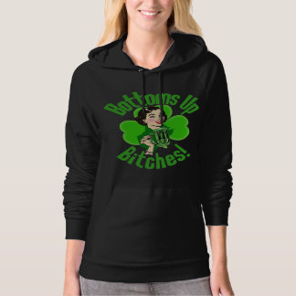 Funny Irish Bottoms Up Hoodie