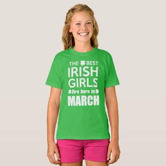 Funny Irish Girl Born March T-Shirt