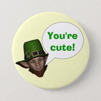 Funny Irish leprechaun 3 Inch Round Button