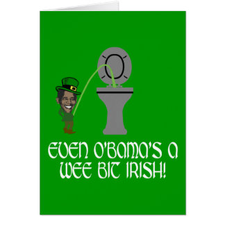 Funny Irish Obama Card