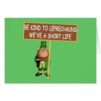 Funny Irish slogan Irish leprechaun Card