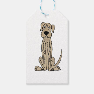 Funny Irish Wolfhound Puppy Dog Art Pack Of Gift Tags