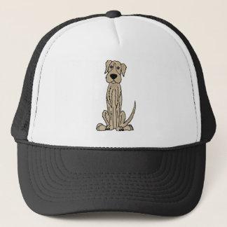Funny Irish Wolfhound Puppy Dog Art Trucker Hat