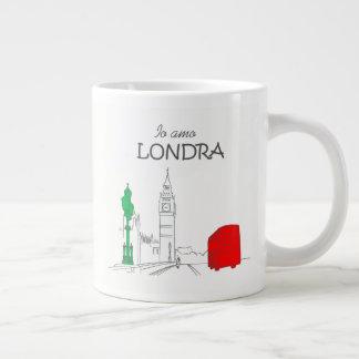 Funny Italian Londra London Love Unique Stylish Large Coffee Mug