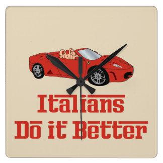 Funny Italians Do It Better Square Wall Clock