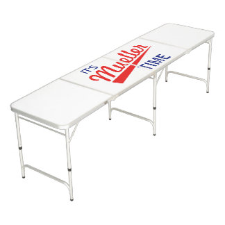 """Funny """"It's Mueller Time"""" Beer Pong Table"""