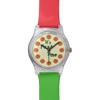 Funny It's Pizza Time Watch