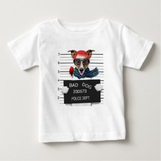 Funny jack russell ,Mugshot dog Baby T-Shirt