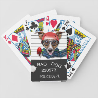Funny jack russell ,Mugshot dog Bicycle Playing Cards