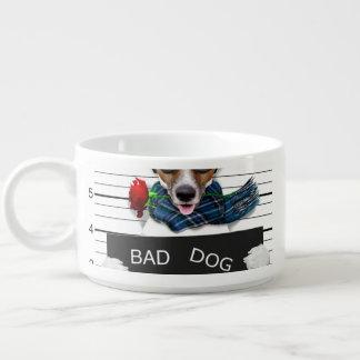 Funny jack russell ,Mugshot dog Bowl