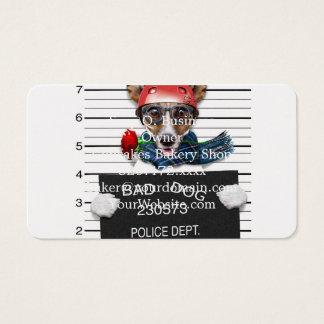 Funny jack russell ,Mugshot dog Business Card