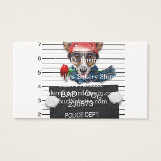 Funny jack russell ,Mugshot dog Business Card